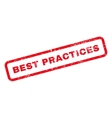 Best Practices Text Rubber Stamp vector image vector image