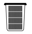 black sections silhouette of tall laundry basket vector image vector image