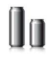 Black shiny aluminum cans vector image
