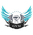 bodybuilding and fitness symbol vector image vector image