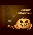 bright background for a holiday of halloween with vector image