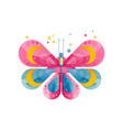 bright icon of butterfly with gradients and vector image vector image
