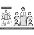 Business meeting line icon vector image vector image