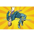 Businessman high jump vector image vector image