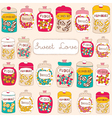 Candy seamless background vector image