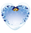 Christmas heart-shaped card vector image vector image