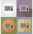 cinema flat icons 13 vector image vector image