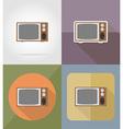cinema flat icons 13 vector image