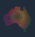colorful australia made by strokes vector image