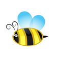 cute cartoon bee flying icon stock vector image