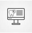 dental computer icon sign symbol vector image