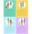 family mother and father set vector image vector image
