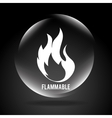 flammable signal vector image