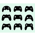 Gamepads silhouettes vector image vector image