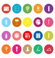 General stationary flat icons on white background vector image vector image