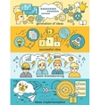 Generation of Ideas Banners Set vector image vector image