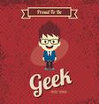 genius geek retro cartoon vector image vector image