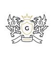 griffin gryphon eagle lion coat arms logo icon