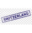 grunge switzerland rectangle stamp vector image vector image