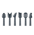 guitars headstock electric neck abstract vector image