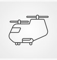 helicopter icon sign symbol vector image vector image