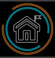 home icon real estate house residential vector image