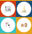 icon flat play set of lotto gambling cards chess vector image vector image