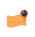 map navigation pointer flag australia icon on vector image