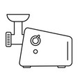 meat grinder machine icon outline style vector image