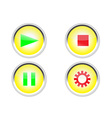 media buttons icon vector image vector image