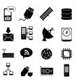 Networking icons vector image