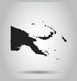 papua new guinea map black icon on white vector image vector image