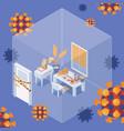 quarantine self isolation isometric work at home vector image