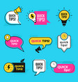 quick tips graphic outline shapes tricks vector image vector image