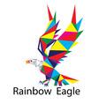 Rainbow Geometric Eagle Logo vector image vector image