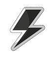 ray energy symbol icon vector image vector image
