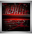Red scratch grunge background vector image vector image