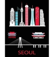 Seoul city vector image vector image