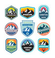 set of adventure outdoor concept badges summer vector image vector image