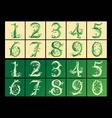 Set of figures vector image vector image