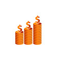 stack coin investment vector image