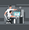startup concept in programming vector image vector image