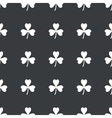 Straight black clover pattern vector image vector image