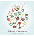 Stylized design Christmas decoration vector image