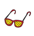 sun glasses hand drawn vector image vector image