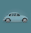the vintage blue car vector image vector image