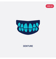 two color denture icon from dentist concept vector image vector image