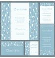 Wedding or invitation card set vector image vector image