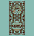 Whiskey label with gentleman detail