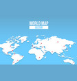 world map empty template with red location pin vector image vector image